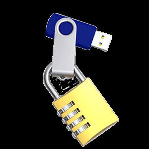 USBメモリ ファイルのロック/デュアルゾーン