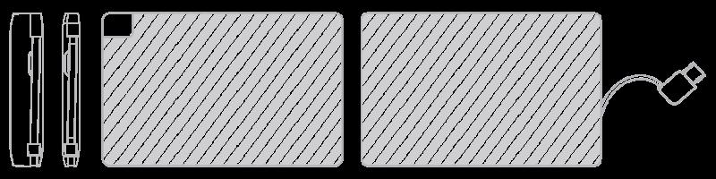 モバイルバッテリー 写真印刷