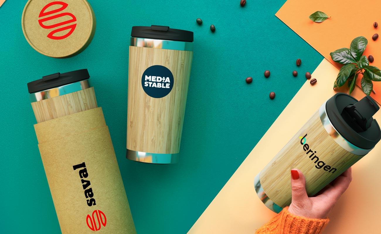 エコシップ - Promotional Bamboo Travel Cups