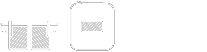 USB トラベル・チャージャー スクリーン印刷